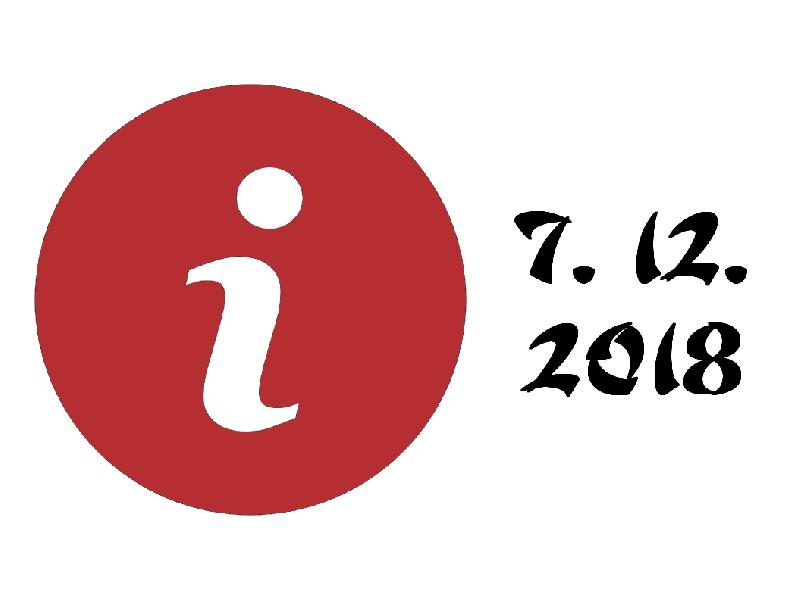 Pátek 7. 12. 2018